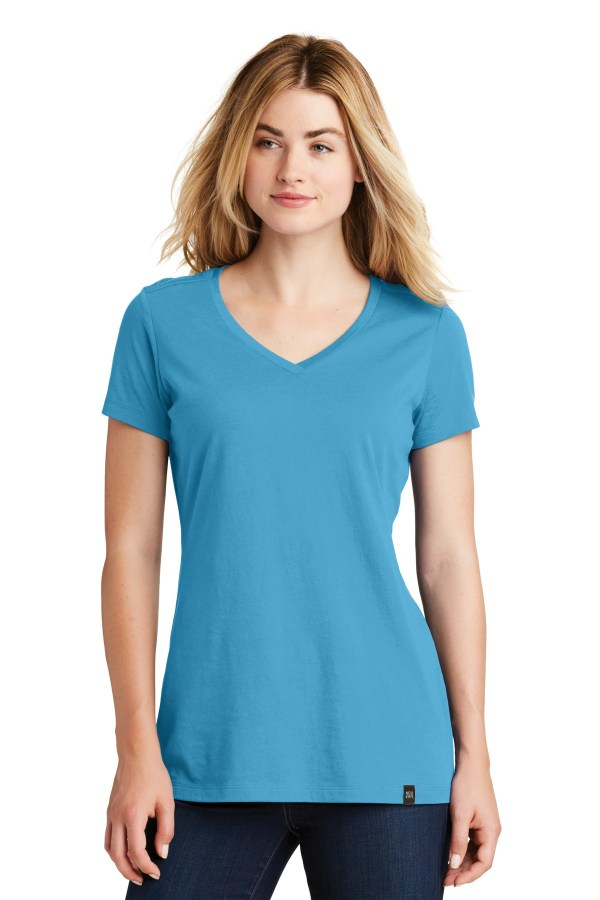New Era  Ladies Heritage Blend V-Neck Tee. LNEA101