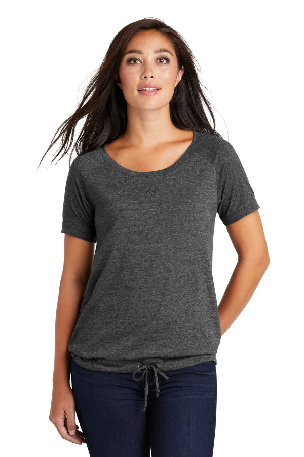 New Era  Ladies Tri-Blend Performance Cinch Tee. LNEA133