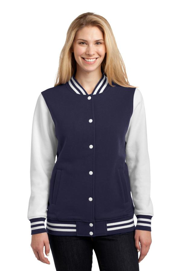 Sport-Tek Ladies Fleece Letterman Jacket. LST270