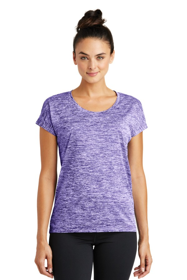 Sport-Tek Ladies PosiCharge Electric Heather Sporty Tee. LST390