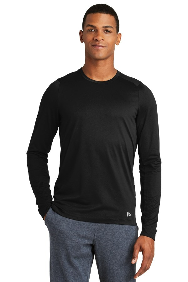 New Era  Series Performance Long Sleeve Crew Tee. NEA201