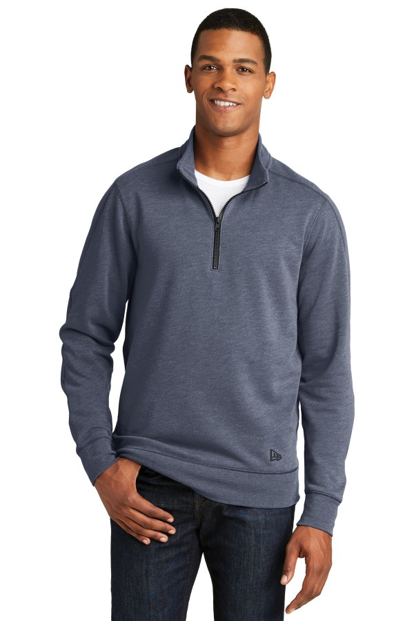 New Era  Tri-Blend Fleece 1/4-Zip Pullover. NEA512
