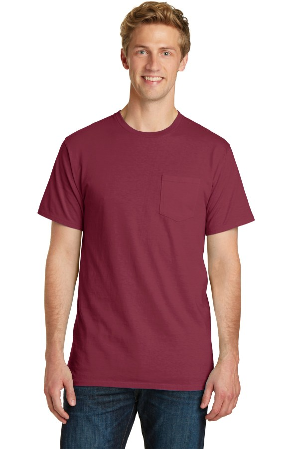 Port & Company Beach Wash Garment-Dyed Pocket Tee.  PC099P