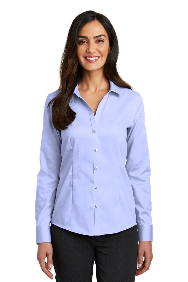 Red House  Ladies Pinpoint Oxford Non-Iron Shirt. RH250