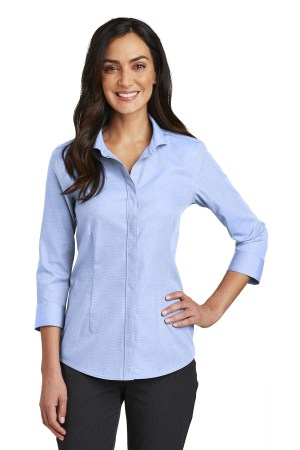 Red House  Ladies 3/4-Sleeve Nailhead Non-Iron Shirt. RH690