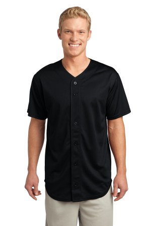Sport-Tek PosiCharge Tough Mesh Full-Button Jersey. ST220