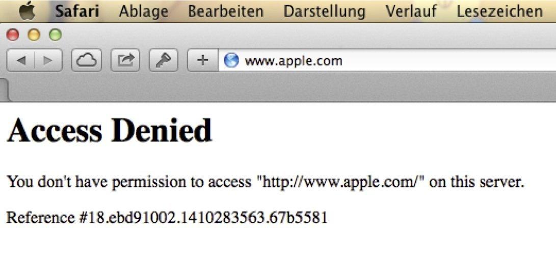 Totalausfall der Apple Website