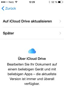 Apple iCloud Drive auf iPhone - Installation