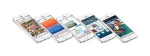 iPhone 5S mit iOS 8 Apps. Quelle: Apple.de