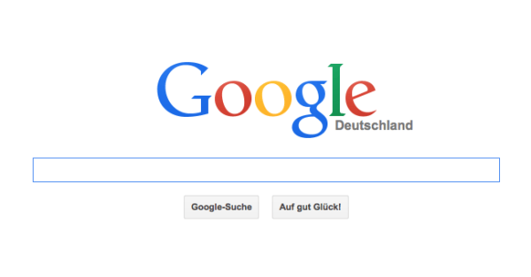 Screenshot Google Deutschland