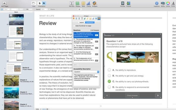 Screenshot iBooks Author. Quelle: Apple