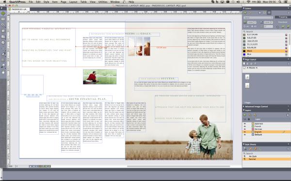 QuarkXPress 2015: Intelligente Hilfslinien vereinfachen das Layouten am Mac. Quelle: Quark.