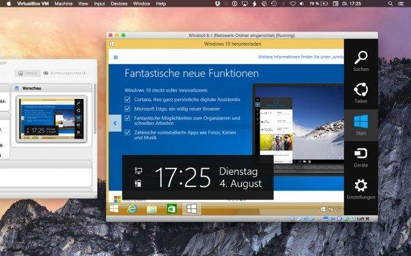 Windows 10 oder 8.1 komfortabel am Mac unter OS X nutzen, ohne über Bootcamp neu hochfahren zu müssen