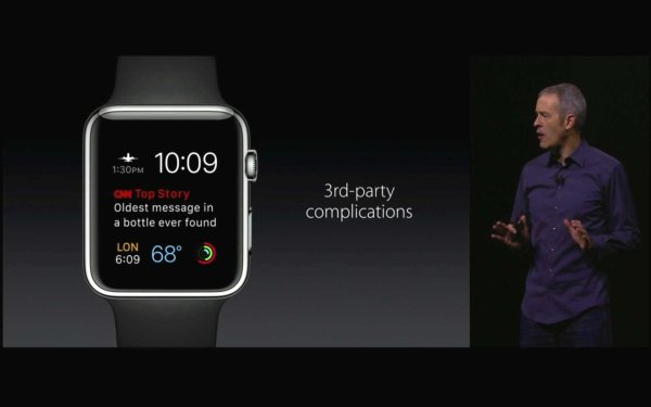 Native Apps von Drittherstellern auf der Apple Watch mit watchOS 2. Quelle: Apple