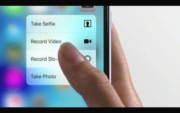 3D Touch ist wie ein Rechtsklick am iPhone. Quelle: Apple