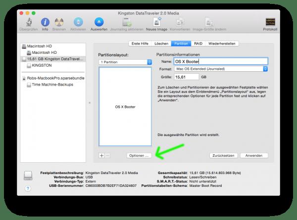 Festplatten am Mac unter OS X bootfähig machen durch richtige Partition