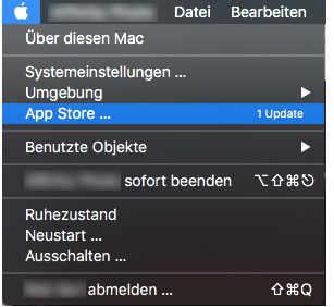 Mac App Store im Apfel-Menü auswählen