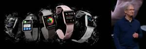 Tim Cook stellt die Apple Watch 2 auf dem Apple Event September 2016 vor. Quelle: Apple