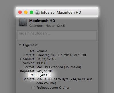 Drei simple Tricks, wenn die Mac Festplatte voll ist