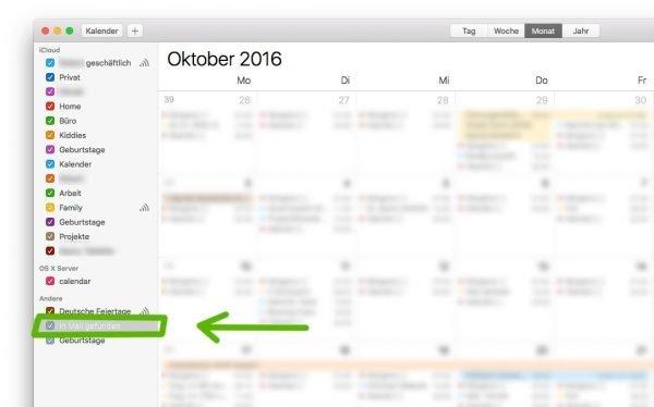 Apple Kalender Spam abschalten in der Mac App