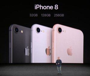 iPhone 8, wie auf der Keynote vorgestellt. Quelle: Apple