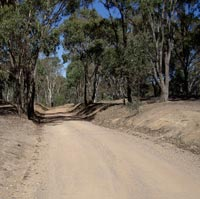 Victoria Hill Road, Heathcote: Parts of the old railway are now in use as roads.
