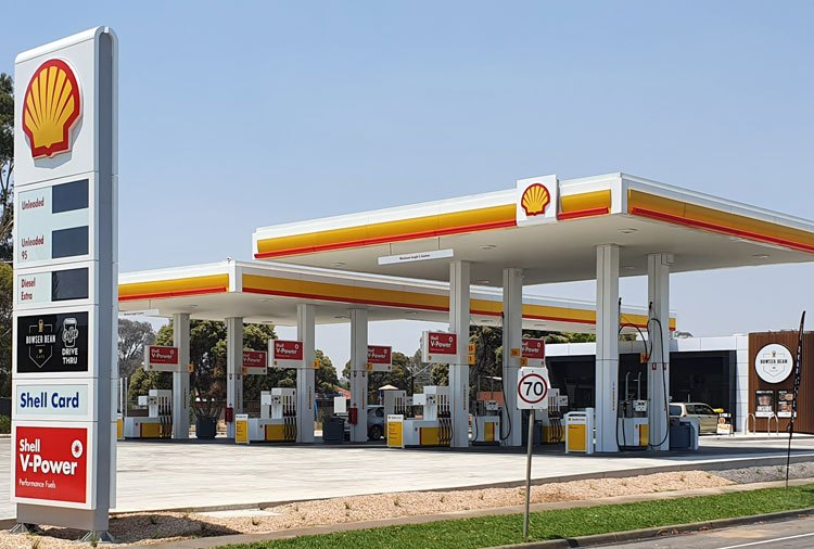 One of the hundreds of service stations built in White Hills in the past month