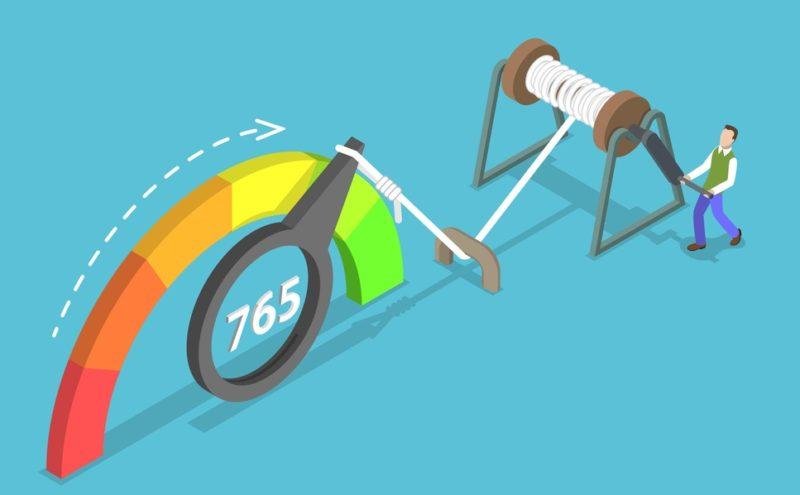 flat concept of credit score improving
