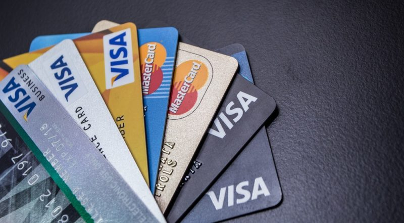 various credit cards