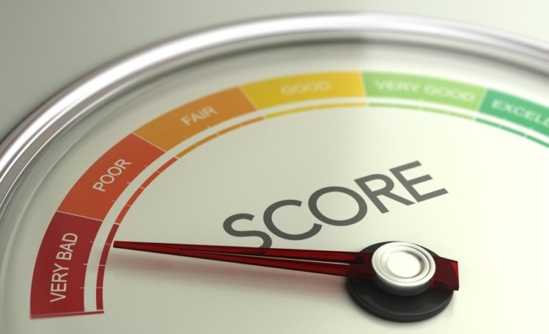very bad credit score