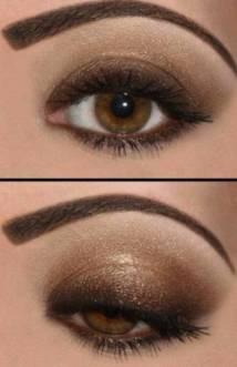 maquillaje-sombras-doradas-y-marrones