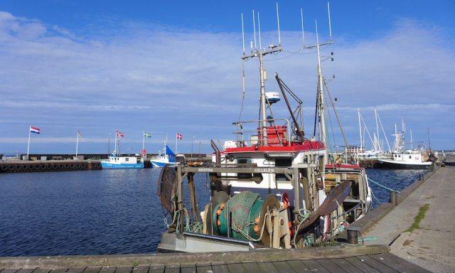 Schiff am Hafen von Gilleleje
