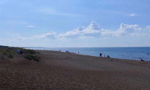 Dänische Riviera. Toller Sandstrand in Tivsvildeleje.