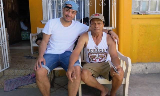 Bendja mit seinem Onkel Rene in Cardona