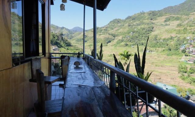 Der Balkon vom 7th Heaven's Café