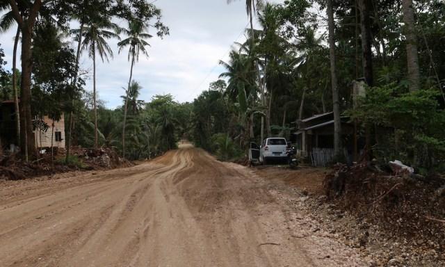 Die unausgebauten Straßen von Siquijor