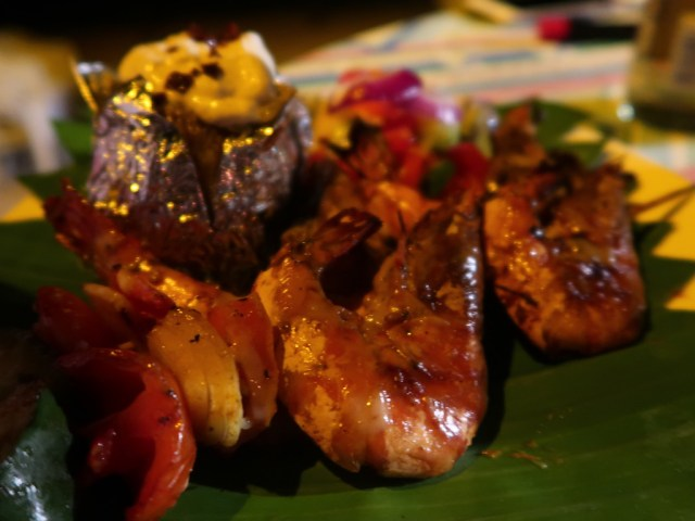 BBQ Dinner, Scampis und Folienkartoffel