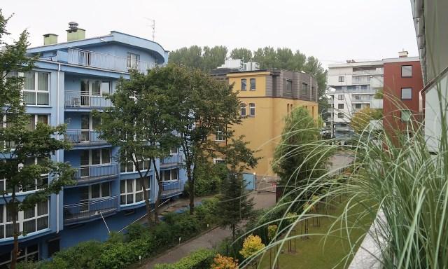 Appartment Blue Mare Blizej Morza in Kolberg - Blick vom Balkon auf den Hinterhof