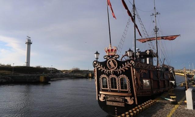 Das Santa Maria Piratenschiff in Kolberg