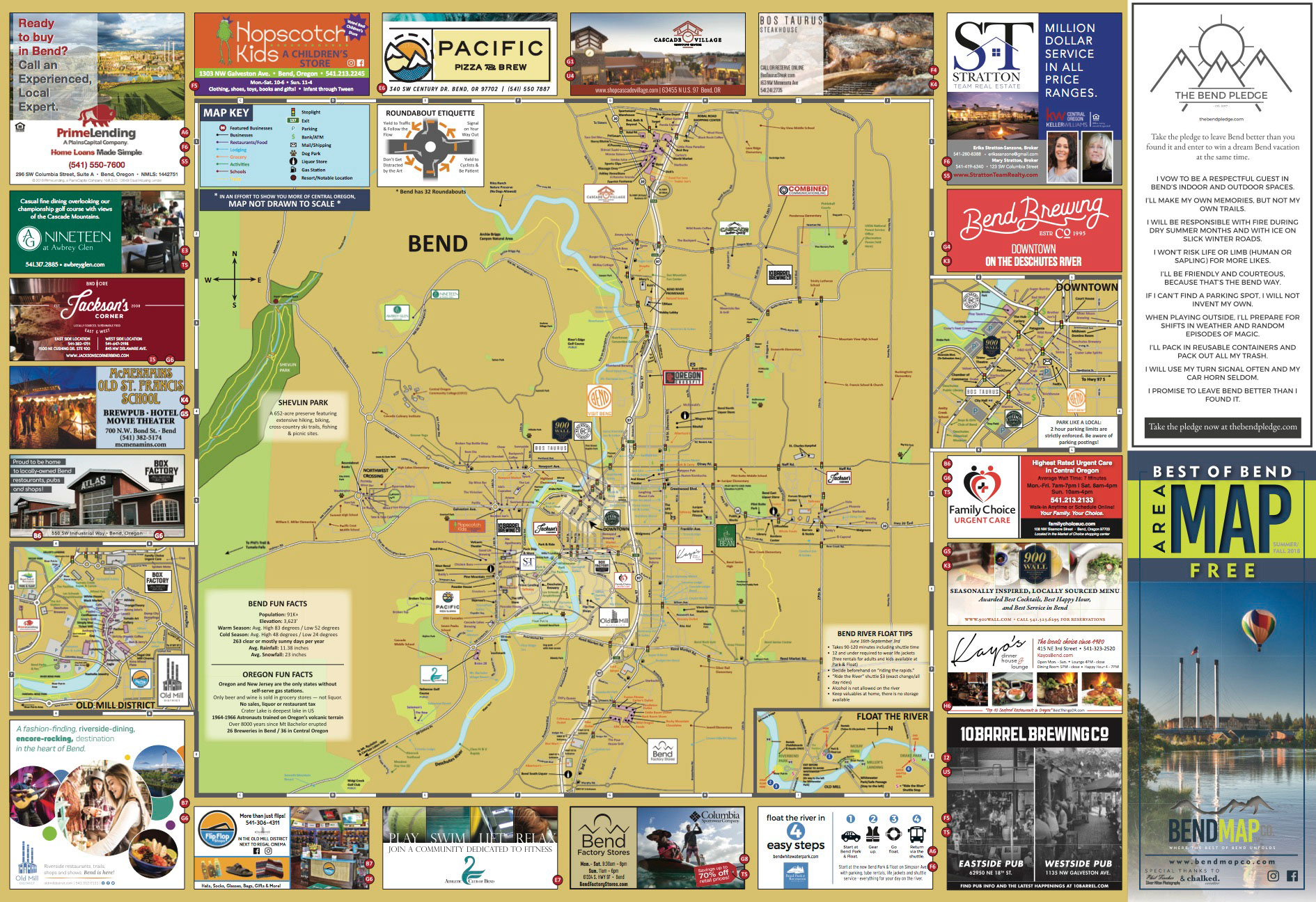 Map Albany Oregon And Bend