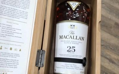 New Macallan 25, Glendronaugh 21, Plantation Rum Peru