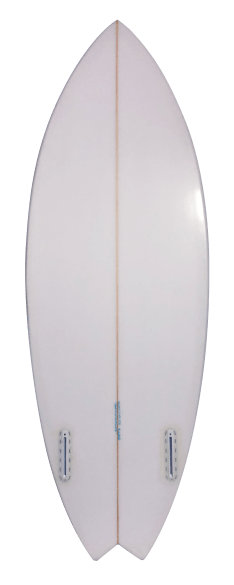 White Riverboard with Blue pinstripe Back