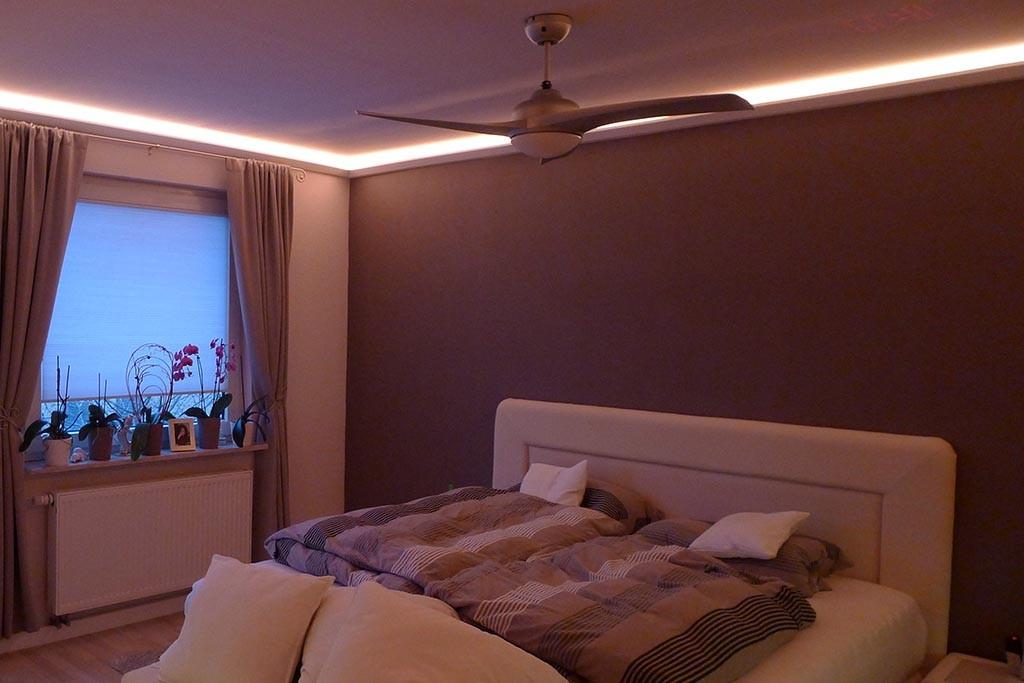 indirect lighting in the bedroom nice