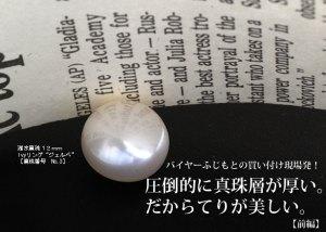 圧倒的に真珠層が厚い。だからてりが美しい。【前編】