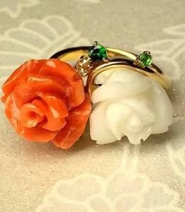 【限定1本】バラの気品をサンゴで堪能