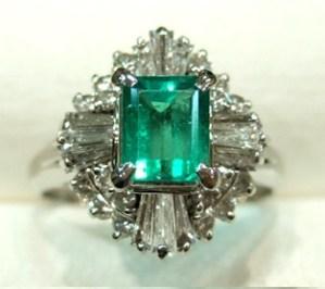 【フルオーダー例】エメラルドリングから外して残ったダイヤモンドもこんなにクールに!