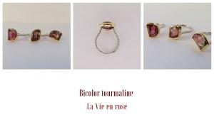 La Vie en Rose エディット.ピアフの名曲をイメージしてデザインした3本のリング、出来上がりました。