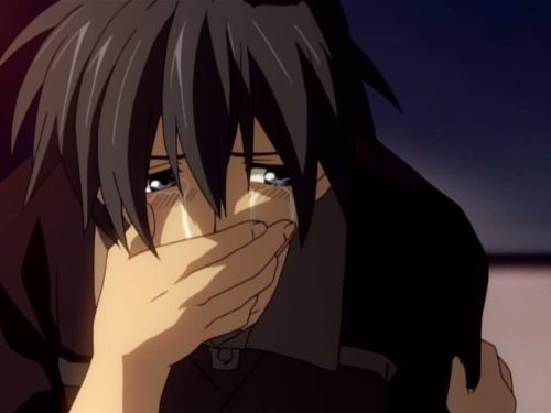 Tomoya crying