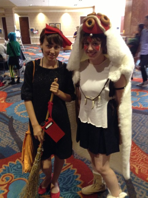 A-Kon cosplay Kiki's Delivery Service and Princess Mononoke