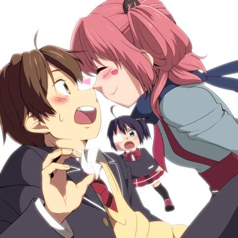 Yuta, Rikka, and Satone